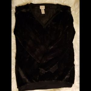 Black faux fur sweater from Kohl's